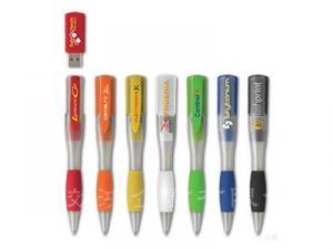 多彩便攜USB隨身碟原子筆