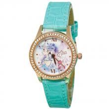 純潔艾莎水晶鑽精緻腕錶