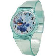 [迪士尼正版授權] 史迪奇清透果凍休閒手錶