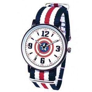 漫威系列薄型酷黑織帶錶-美國隊長